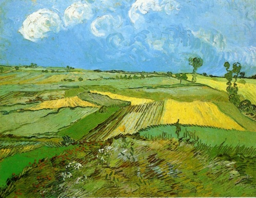 Vincent Van Gogh.  Wheat Fields at Auvers under Clouded Sky.  July 1890.  Wikipedia.
