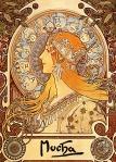 Alphonse Mucha.  Zodiac, 1896.  Wikipaintings.