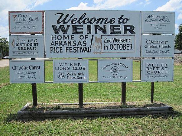 Weiner, AR, US.  Wikipedia.