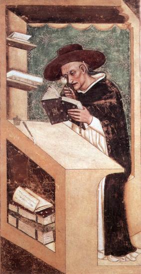 Tommaso da Modena.  Cardinal Nicholas of Rouen, 1352.  Web Gallery of Art.