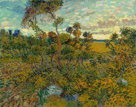 Vincent Van Gogh.  Sunset at Montmajour, 1888.  Wikipedia.