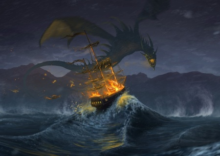 Dragon at Sea. Image from http://pichost.me/1472469/