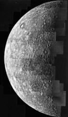 NASA.  Mercury as seen by Mariner, 1974. Wikipedia.