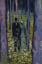 Vincent van Gogh. Undergrowth with Two Figures, 1890. Via Pinterest.