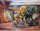 Edvard Munch. Spring Plowing, 1916. Wikipedia.