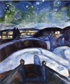 Edvard Munch. Starry Night, 1924. Wikipaintings.