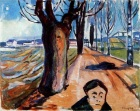Edvard Munch. The Murderer in the Lane, 1919. Wikipedia.