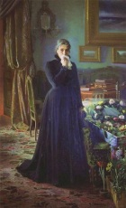 Ivan Kramskoy. Inconsolable Grief, 1884. Wikipaintings.