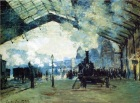 Claude Monet. Saint-Lazare Gare, Normandy Train, 1887. Wikipaintings.