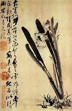 Shitao. Daffodils, 1694. Wikipaintings.