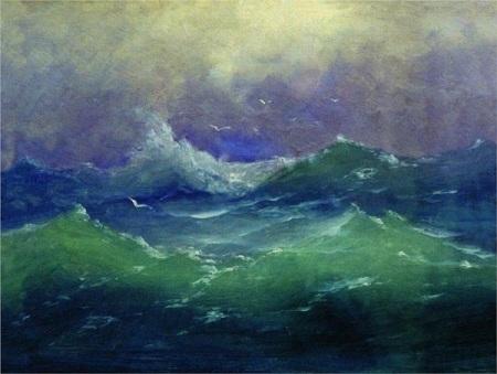 Arkhip Kuindzhi. Waves, n.d. Wikipaintings.