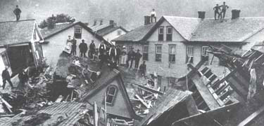 Johnstown, PA, USA, after the Great Flood of 1889. Wikimedia.