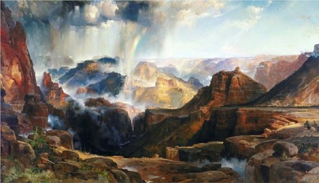 Thomas Moran.  The Chasm of the Colorado, 1874. Wikipaintings.