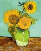 Vincent Van Gogh.  Sunflowers, 1888. Wikipaintings.