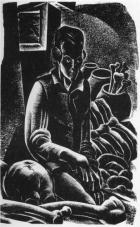 Lynd Ward.  Mary Shelly – Frankenstein, 1934. Wikipaintings.