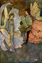 Edmund Dulac.  Princess Orchid's Party, 1910. WikiArt
