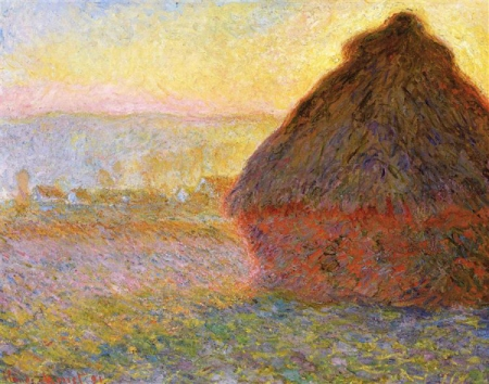 Claude Monet. Haystacks (Sunset), 1891. WikiArt.
