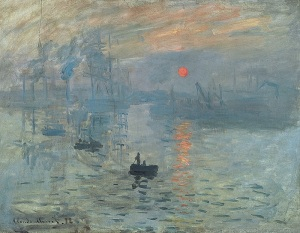Claude Monet.  Impression, Sunrise, 1872. Wikimedia.