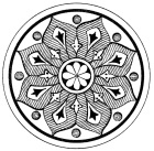 Snowflake Medallion 3. Graphics Fairy.