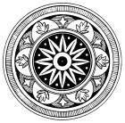 Snowflake Medallion. Graphics Fairy.