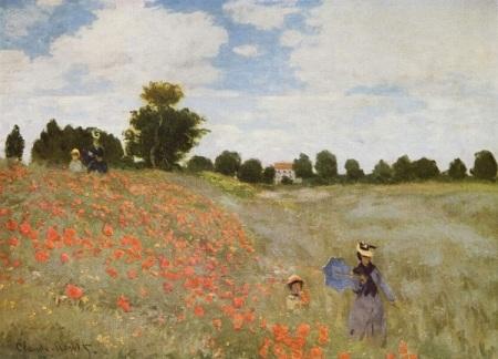 Claude Monet.  Landscape with Poppies.