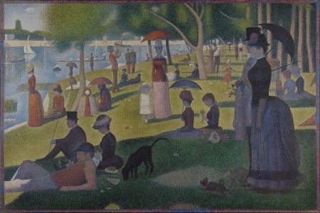 Georges Seurat.  Sunday Afternoon on La Grande Jatte, 1884.  Wikimedia.