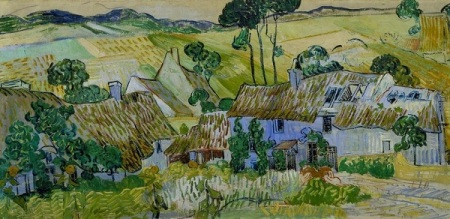 Vincent Van Gogh.  Farms Near Auvers, 1890. Van Gogh.net.
