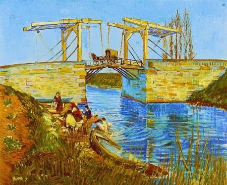 Vincent Van Gogh.  Langlois Bridge at Arles with Women Washing, 1888. Wikimedia.
