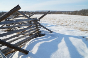 2 25 2015 fence snow gettysburg blue
