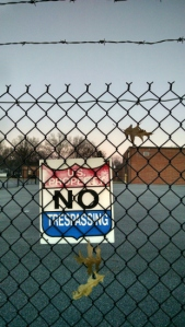 3 17 2015 no trespassing sign fence barb wire 3