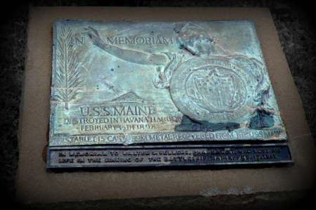 7 19 2014 war memorial plaque 3 remember the maine