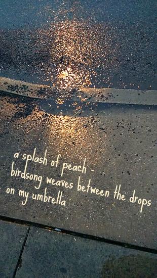 a splash of peach
