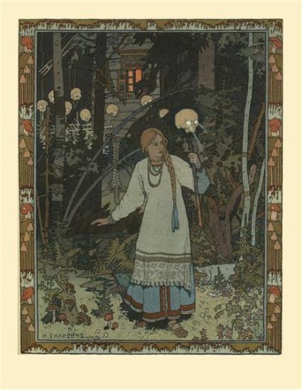 Ivan Bilibin.  Vasilisa the Beautiful, 1900. WikiArt.