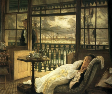 James Tissot.  Passing Storm, 1876. WikiArt.