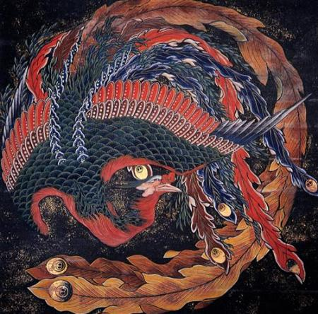 Katsushika Hokusai.  Phoenix, n.d. WikiArt.