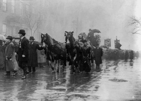 Mourning the Triangle Shirtwaist Factory Victims. LOC.