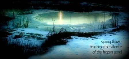 spring thaw haiku haiga