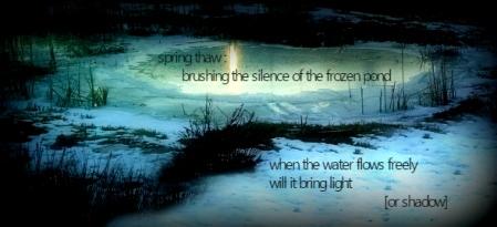 spring thaw tanka haiga