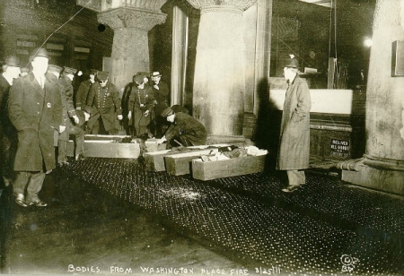Coffins of Triangle Shirtwaist Fire Victims. Library of Congress.
