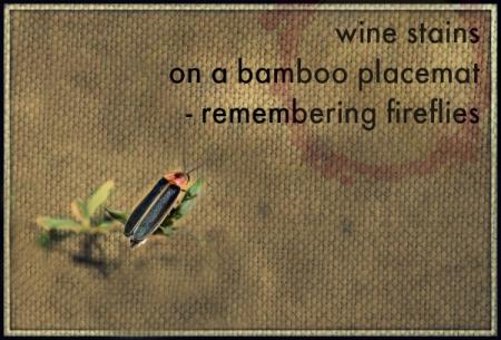 wine stains firefly haiga