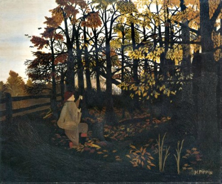 Horace Pippin. The Squirrel Hunter, 1940. WikiArt.