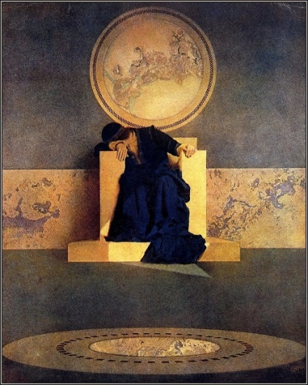 Maxfield Parrish.  Young King of the Black Isles, 1906. Pinterest.