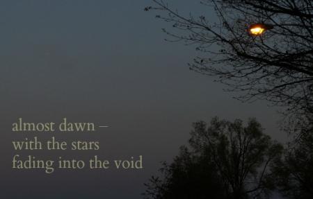 almost dawn haiga