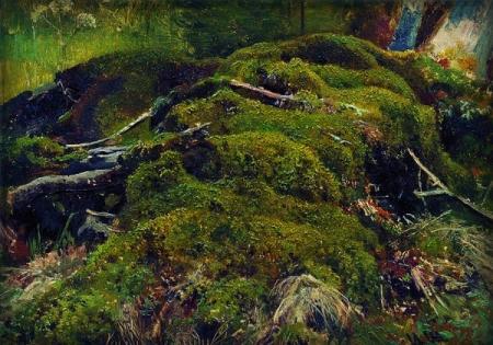 Ivan Shishkin.  Moss and Roots.  WikiArt.