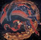 Katsushika Hokusai.  Phoenix.  WikiArt.