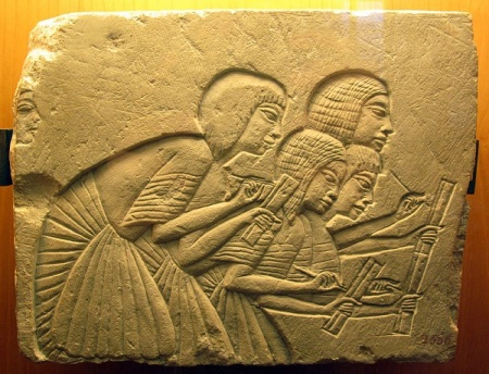 Relief from Amarna. Wikimedia.