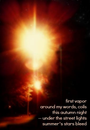 first vapor haiga tanka